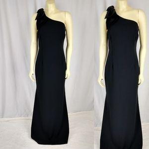 Eliza J One Shoulder Black Cocktail Dress TALL